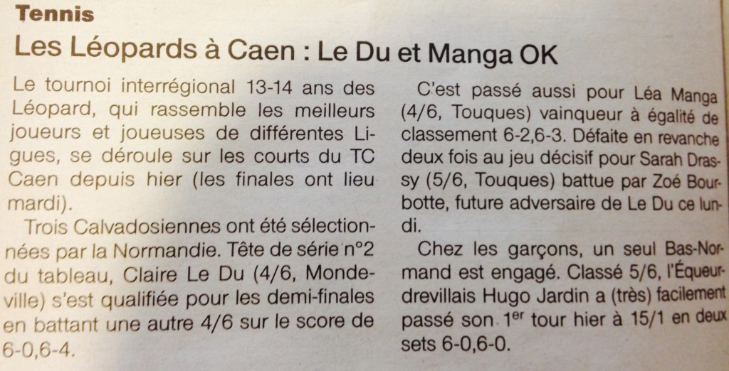 Ouest-France Tournoi Léopards