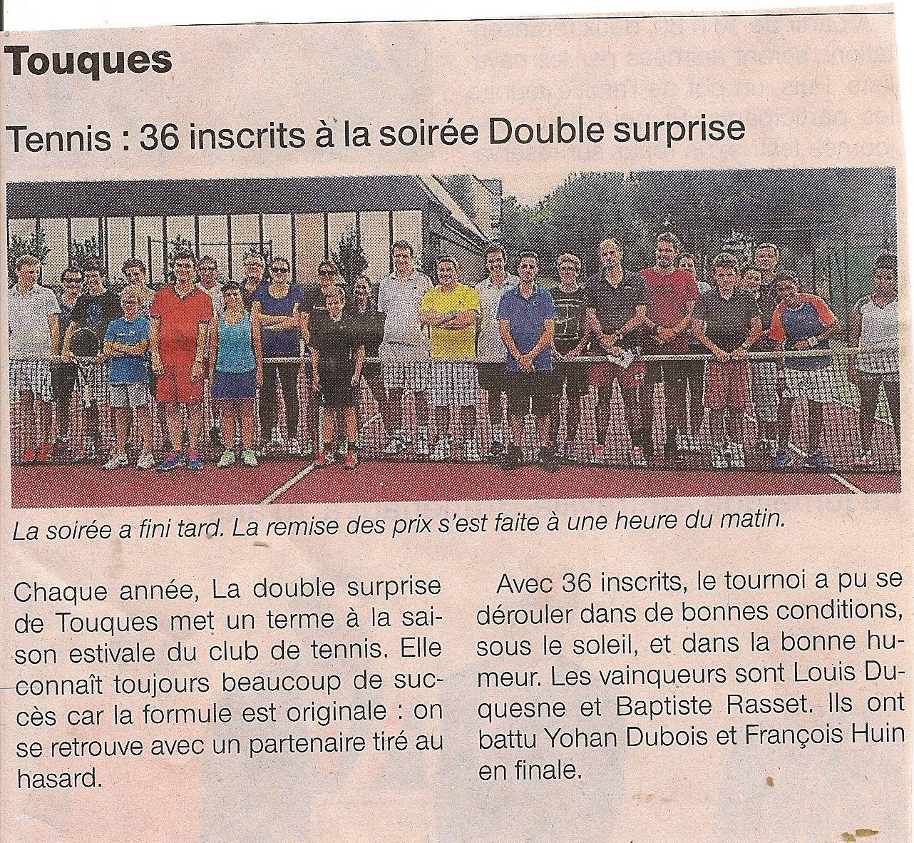 Ouest-France - Double surprise Août 2015